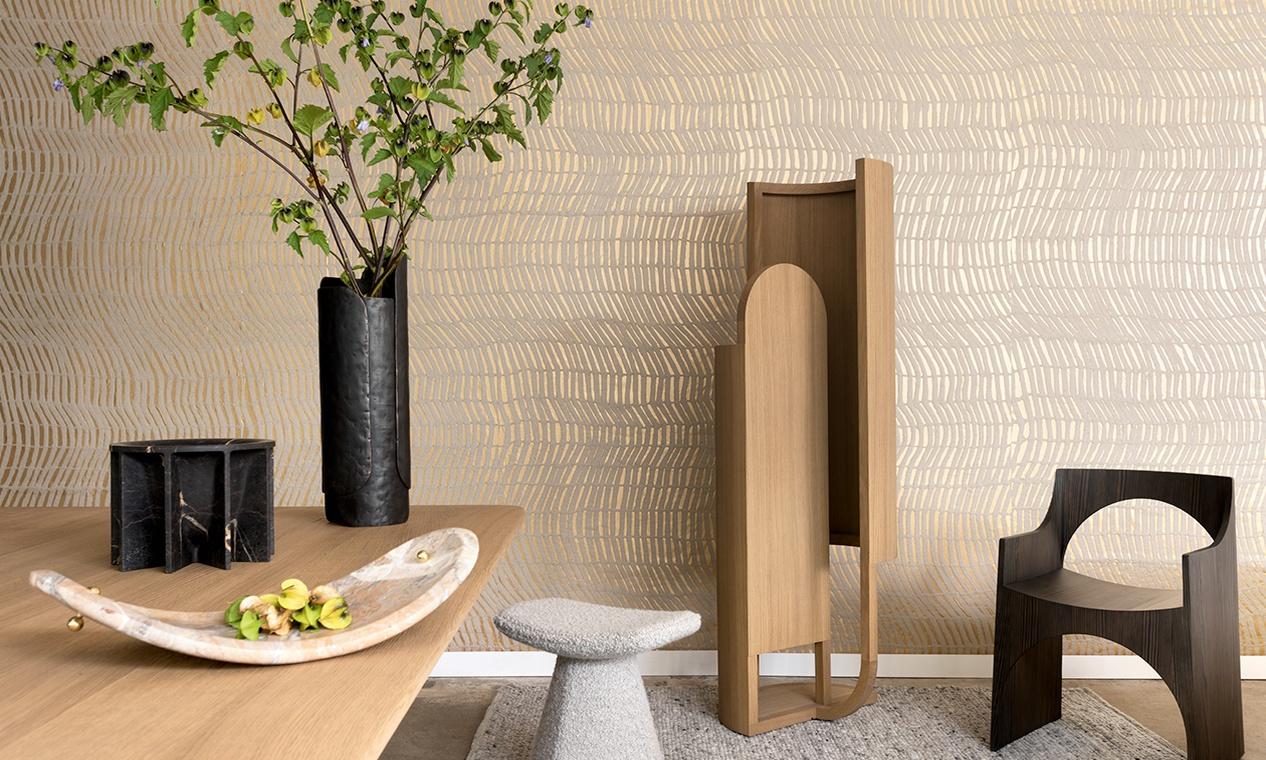 Elitis paper sculpture wallcovering