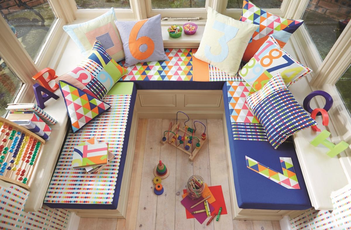 Kinderkamer Kinderkamer Gordijnstoffen : Harlequin belvedere