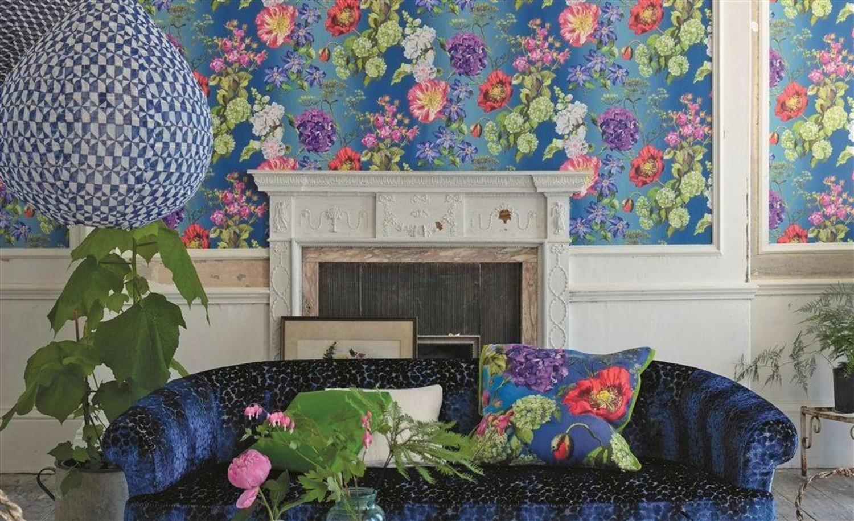 Designersguild Alexandria Graphite Wallpaper