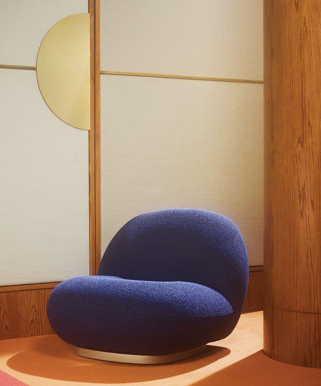 Sahco 2019 armchair safire blue